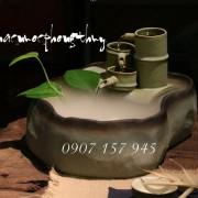 THÁC NƯỚC PHONG THỦY ỐNG TRE SỨ